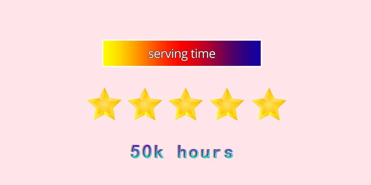 It has a longer serving time