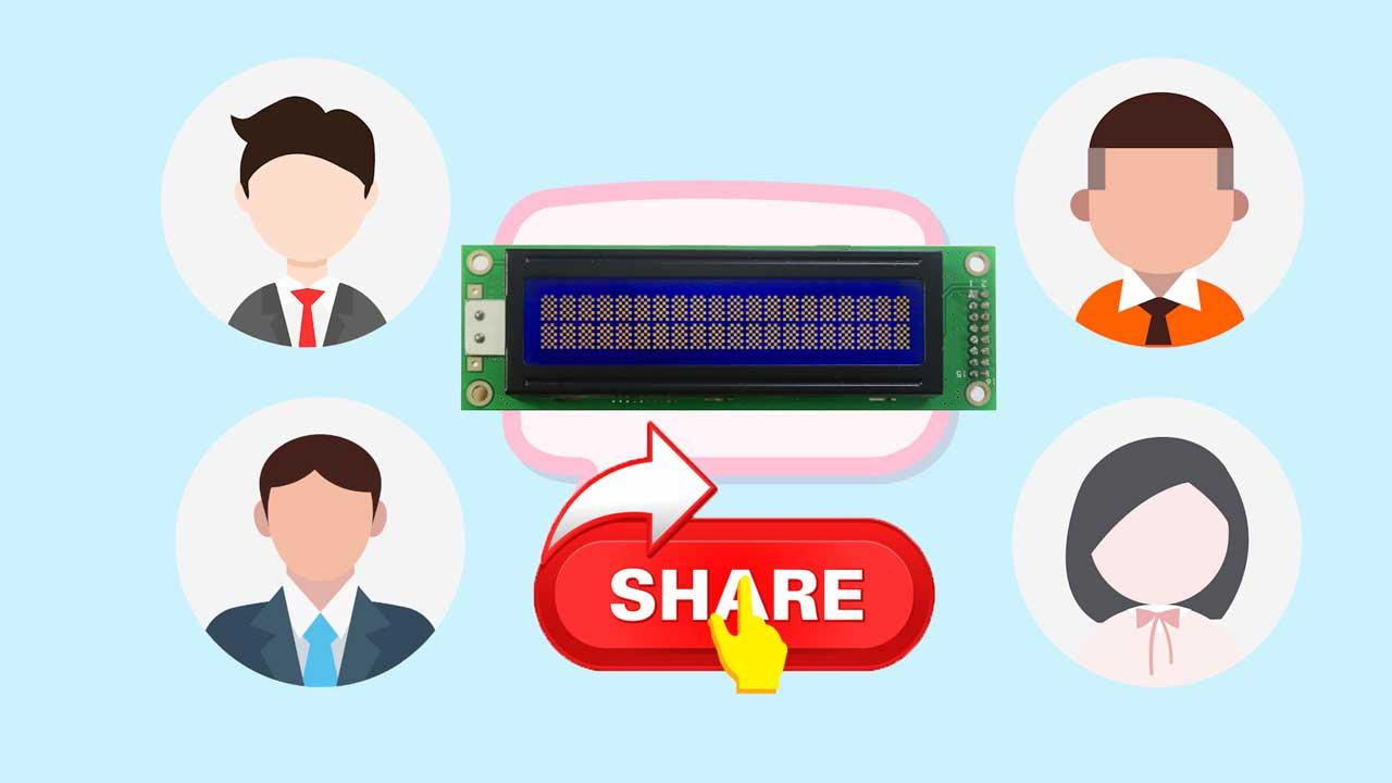 share public dot matrix LCD modules